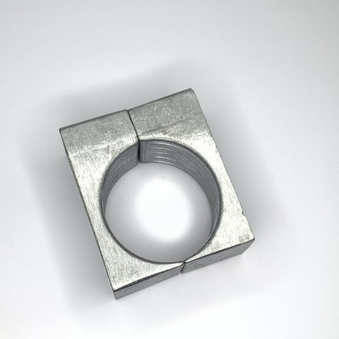 One Hole Two Part Aluminium Cable Clamp 64 - 70MM