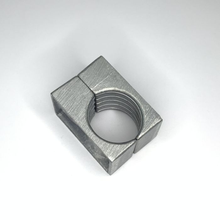 One Hole Two Part Aluminium Cable Clamp 38 - 44MM