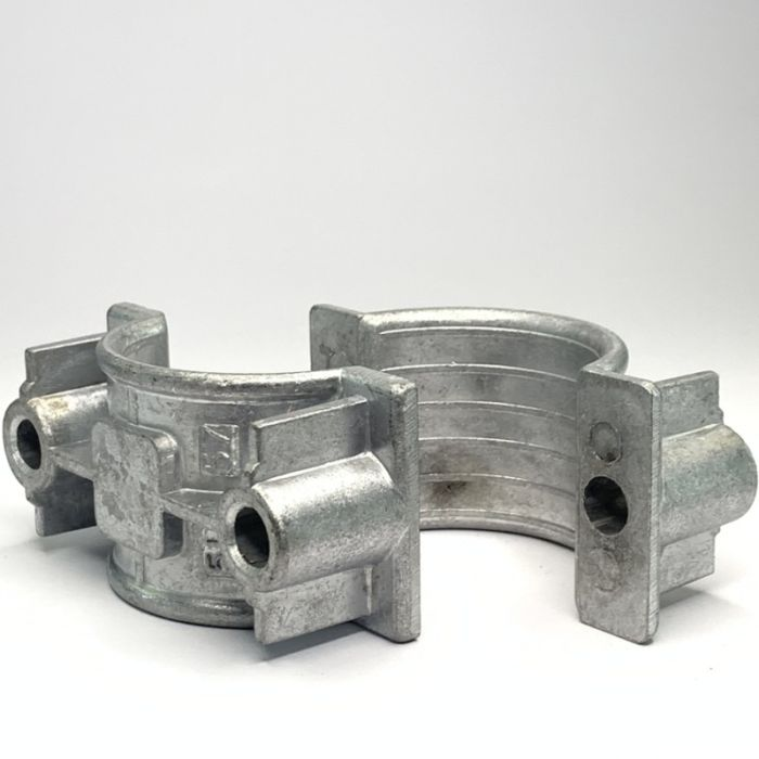 Two Hole Two Part Aluminium Cable Clamp 51 - 57mm