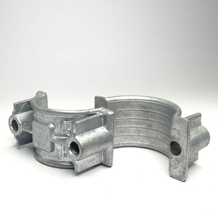 Two Hole Two Part Aluminium Cable Clamp 57 - 64mm